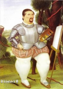 Self Portrait as Spanish Conquistador Fernando Botero