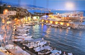 Byblos, le port de plaisance